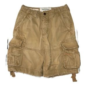 Abercrombie Fitch Tan Heavy Weight Button Fly